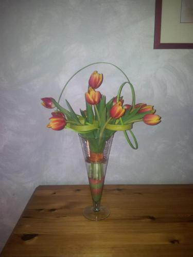 Bouquet de Tulipes avec Structure