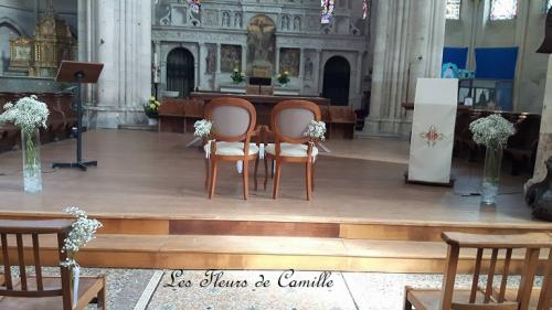 Compositions florales pour eglise