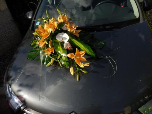 Devant de voiture orange